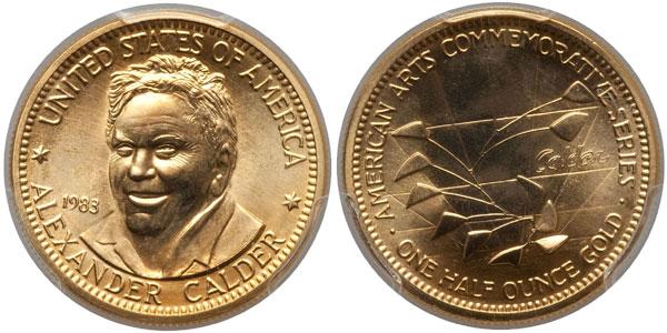 1983 Alexander Calder American Arts Gold Medallion