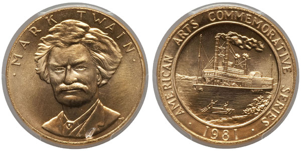 1981 Mark Twain American Arts Gold Medallion