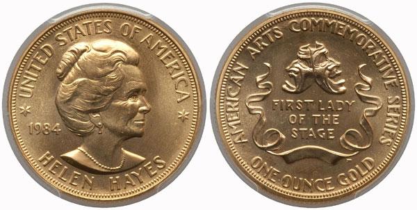 1984 Helen Hayes American Arts Gold Medallion