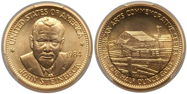 1984 John Steinbeck American Arts Gold Medallion