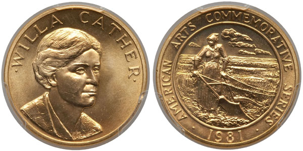 Willa Cather Americna Arts Gold Medallion